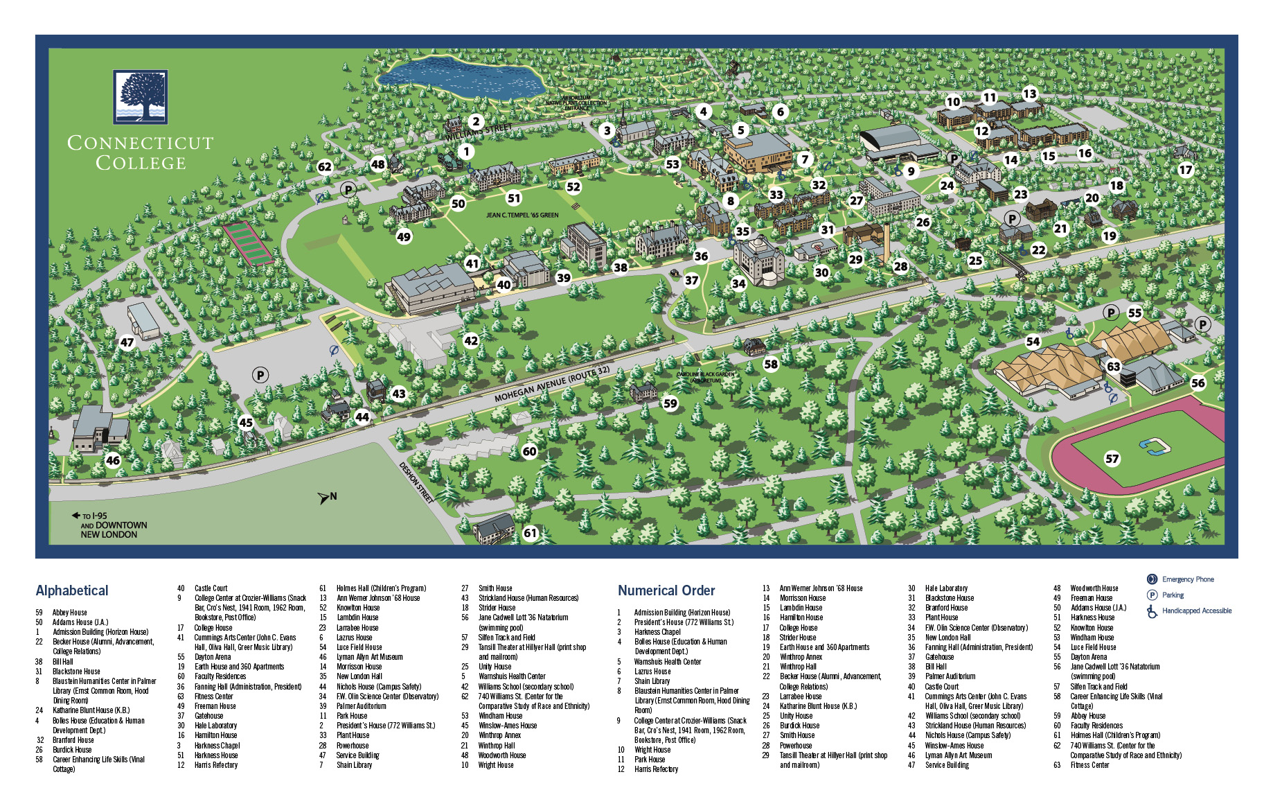 conn coll campus map Conn College Campus Map Map Vector conn coll campus map