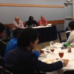 Panelists answered graduate students' questions during the first-ever C3-LADO visit to University of Michigan.